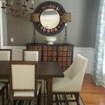 Contemporary Dining Room with Reclaimed Furnishings
