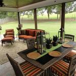 Dining and Seating Area in New Screened Porch Addition