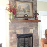 Traditional Fireplace Refaced with Faux Summerstone
